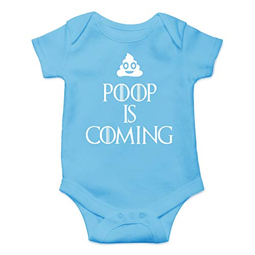 Poop is Coming - Funny TV Series Parody - Mono de bebé de una pieza - azul - 12 meses
