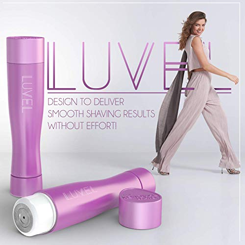 LuVel - Facial hair remover for women | Painless Electric Razor Technology | Flawless Face Hair Removal for Women & Lady | Trim Peach Fuzz Lips Armpit Bikini | Portable Wet & Dry Ladies Shaving Device