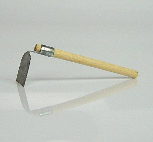 krippenshop Miniatur Hacke aus Blech mit Holzstiel, Größe 7 cm. für Weihnachtskrippe.