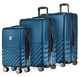 HAUPTSTADTKOFFER - Boxi - 3er Koffer-Set Trolley-Set Rollkoffer Reisekoffer TSA, 4 Rollen, (S, M & L), Dunkelblau