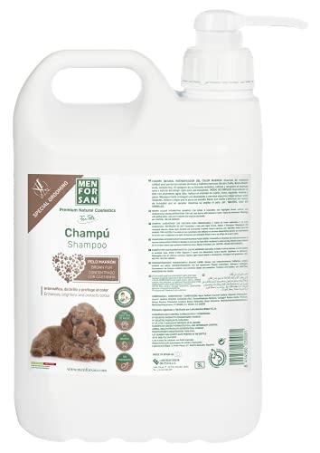 MENFORSAN Champú perros pelo marrón, Intensificador del color, Con pH neutro adaptado al perro