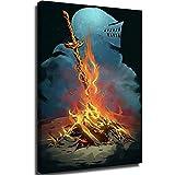 Lienzo decorativo para pared para pósteres infantiles Dark Souls 3 Bonfire Artorias y SIF Nwt enmarcado lienzo artorias 30,5 x 45,7 cm