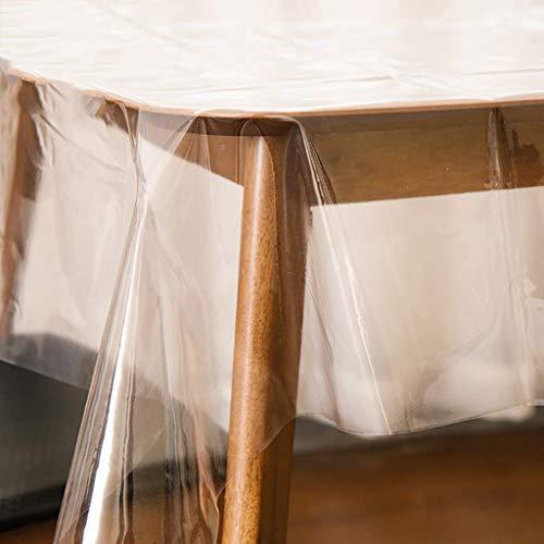 GPWDSN Tischdecke Klarer Kunststoff, wasserdicht Ölfeste Tischdecke Rechteckiger runder Esstisch Protector Vinyl Tischdecke transparent 140x100cm (55x39inch)