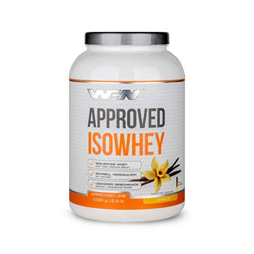 WFN Approved Isowhey - Vanille - 1 kg Dose - Laktosefreies Eiweißpulver - CFM Molkenproteinisolat - Sehr gut löslich - 33 Portionen - Made in Germany