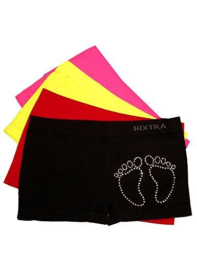 Bixtra Girls Glitzer Panty 4er Pack Seamless Farbmix Größe 104-116