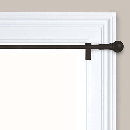 Maytex 6099 Easy to Install Adjustable Tension Decorative Window Curtain Rod, 48 inches to 84 inches, Oil Rubbed Bronze
