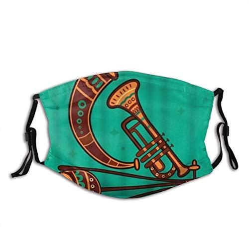 Musikinstrument Indien Desi Volkskunst Stil Horn Trompete Kultur Native Sound Unisex Anti Staub Gesichtsdekoration Waschbar Wiederverwendbar