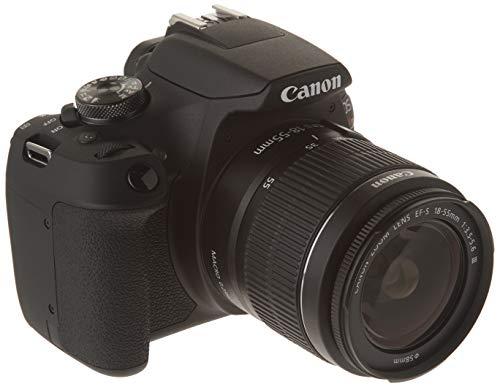 Canon CAMCNN3700 Cámara EOS Rebel T7-24.1 MP, 1920 X 1080 Pixeles, LCD de 3 Pulgadas, Neg