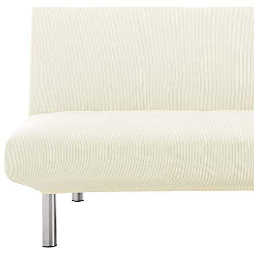 Eiffel Textile Funda de Sofa Milan Elastic, 94% poliéster 6% Elastano, Marfil, Clic Clac