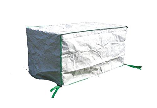 housse de protection pour table de jardin rectangulaire excl. de Tyvek - avec sac de stockage - dimensions: 150cm x 80cm x 75cm
