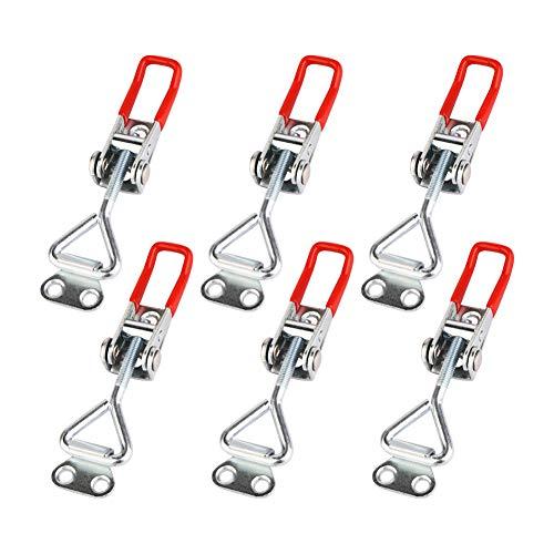 6 cierres de metal GH-4001, palanca de cierre, cierre, cierre, tensor de palanca, pequeño tensor de palanca de rodilla, ajustable, capacidad de retención de botón, 100 kg, cierre de cajas.