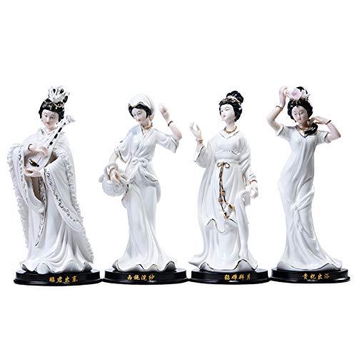 Modern Interieur Sculptuur Accenten Chinese Klassieke Keramiek, Vier Schoonheid, Dames, Ambachten, Decoratie, Woonkamer, Tv-Meubel, Woonaccessoires, Geschenken, Geschenken