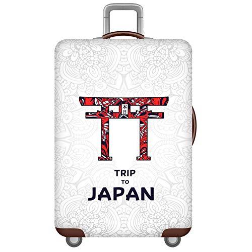 Cubierta de Equipaje Funda de Maleta 18-32 Pulgadas,Duradero Protector Lavable Plegable Protector Elástico y Anti-Polvo con Cremallera Japan S(Fit 18-20 Inch Luggage)
