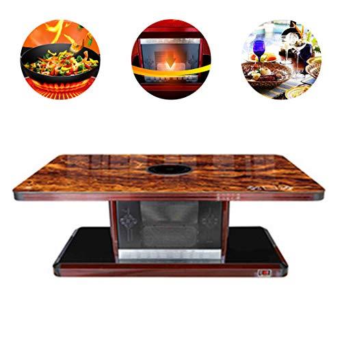 BLLJQ Multifunktionale Elektrische Heizung Couchtisch, Heizgeräte, Elektro-großgeräte, Electric Hob, Dining Desks Household Coffee Table,C