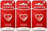 Quick-Tag New Glow in The Dark Dog Tag Silencers (Heart Shape, Small / 3 Silencers)