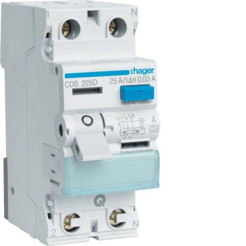 Hager CDS225D FI-Schalter 25A 30mA 2pol. QuickConnect