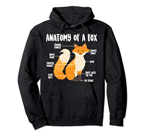 Anatomy Of A Fox   Cute Sweet Carnivore Funny Animal Gift Pullover Hoodie