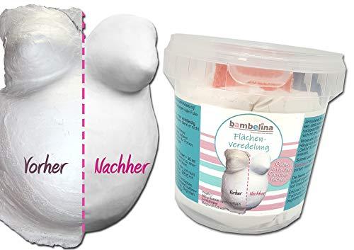bambelina® Flächenveredelung - zur Glättung von rauhen Gipsoberflächen, incl. Malgrund, Deutsches Produkt