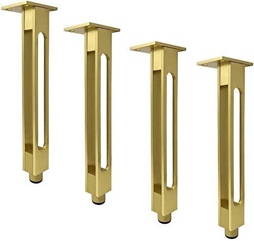 GANE Pies de Soporte de Aluminio Macizo para Muebles, Patas de Metal para Armario de baño, Patas de Mesa de Centro, Soporte de Carga Resistente (Negro, 25 cm)