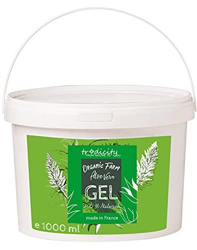Aloe Vera Gel 1kg Seulement Aloe Vera Jus 100% Natural pour Visage, Cheveux et Corps, Animaux de Compagnie, Hydratant Calmant aprés Soleil