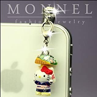 e18d0d8f11 ip322 Luxury Hello Kitty Angel 3D Charm Anti Dust Plug Cover For iPhone 4 4S