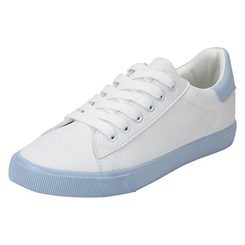 Red Tape Women's Blue and White Sneakers - India