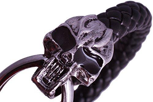 Pulsera para hombre de calavera Acero inoxidable gótico de calavera Harley mivall roqueros