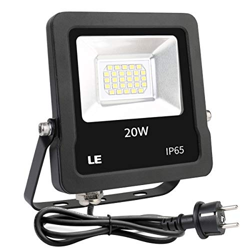 Lighting EVER - Foco LED 20W 1600LM, Impermeable para Exteriores, color Blanco Frío