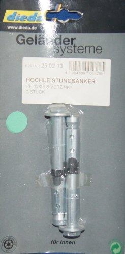 Geländersysteme 2 Schwerlastdübel / Hochleistungsanker für Innen 12 mm, Inhalt: 2 Stck.