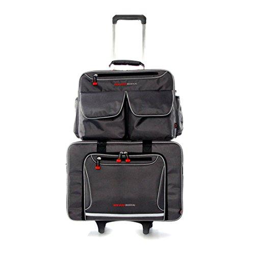 Trolley voor Medical Gear thuis artsen verpleegkundigen tassen, opvouwbare lichtgewicht handkar bagage