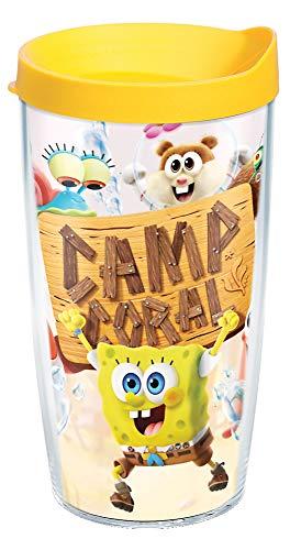 Tervis Nickelodeon - SpongeBob SquarePants Insulated Tumbler, 16oz - Tritan, Camp Coral