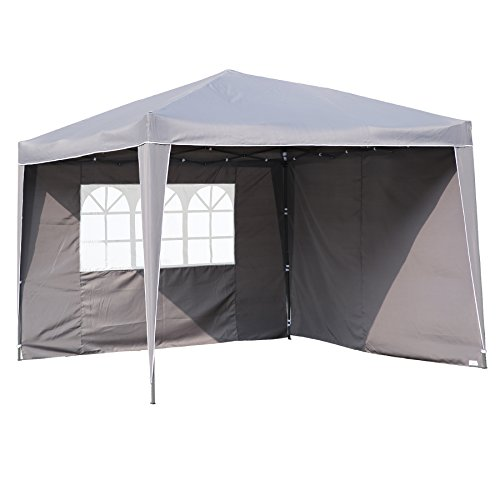 Angel Living Plegable Pop-Up Gazebo 3x3m Plegable Tienda De CampañA JardíN Patio Exterior Marquesina Toldo Con Bolsa De Transporte (Gris)