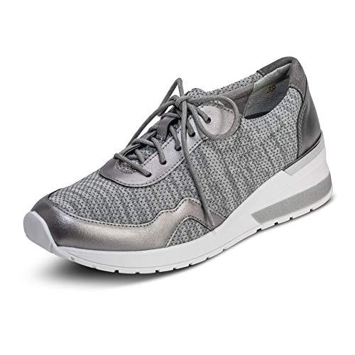 VITAFORM® Damen Sneaker Stretch Weite H (Silbergrau, Numeric_43)