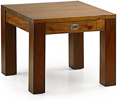 Yabbyou Solid Rustic Oak Side//Lamp//Sofa//Hall Tables 40cm High