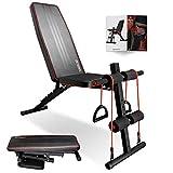 arteesol Panca pesi regolabile, panca pesi multifunzionale Panca pesi Deluxe pieghevole Panca fitness inclinata per l'allenamento di tutto il corpo