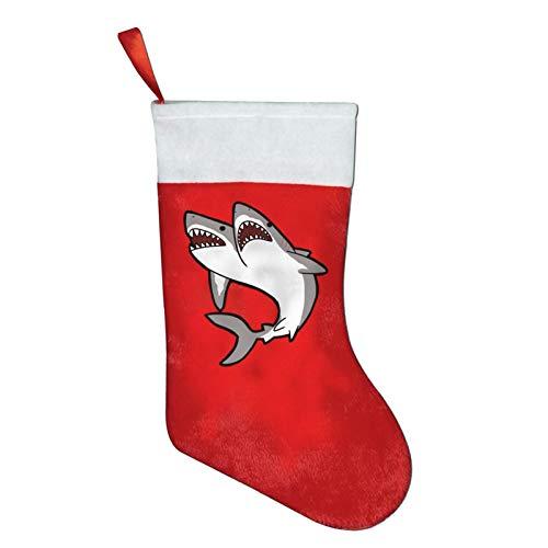 SYDIYIWL - Calcetines de Navidad con dos cabezas de tiburón para decoración de disfraces de Navidad