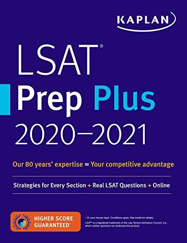 LSAT Prep Plus 2020 2021 Strategies for Every Section Real LSAT Questions Online Kaplan Test product image