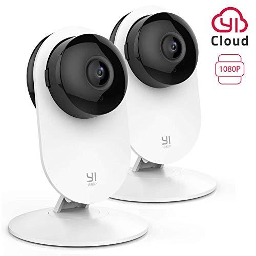 YI Home Camera 1080p IP Kamera, WiFi Überwachungskamera mit Bewegungserkennung, Push-Benachrichtigung, Zweiwege-Audio, Nachtsichtfunktion, Smart Kamera für Telefone, 2 Stück