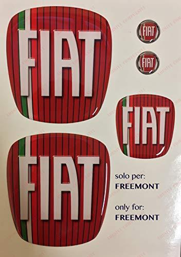Freemont Logo vorne hinten + Lenkrad + 2 Embleme für Schlüsselanhänger für Motorhaube und Kofferraum,...