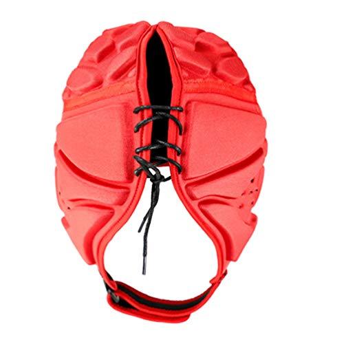 GARNECK Protector de Cabeza Acolchado para La Cabeza Protector de Cabeza de Rugby Protección contra Caídas para Portero de Fútbol Portero Hockey Rugby Patinaje sobre Ruedas L