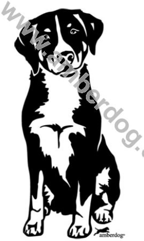 Amberdog Appenzeller Sennenhund Sennenhund Sennenhund Wandtattoo Art.Nr.T0142 Größe 60x40cm B0185YSXHE e592c2