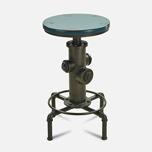 Tabouret rotatif créatif de café, chaise de barre vintage en fer forgé (Color : Green)