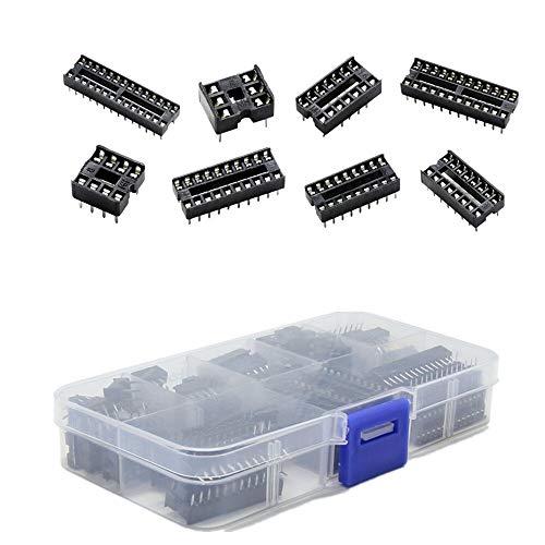 NB YULUBAIHUO 66Pcs/Lot DIP IC Sockets Adaptor Solder Type Socket Kit 6,8,14,16,18,20,24,28 Pin For Arduino PCB Diy Kit