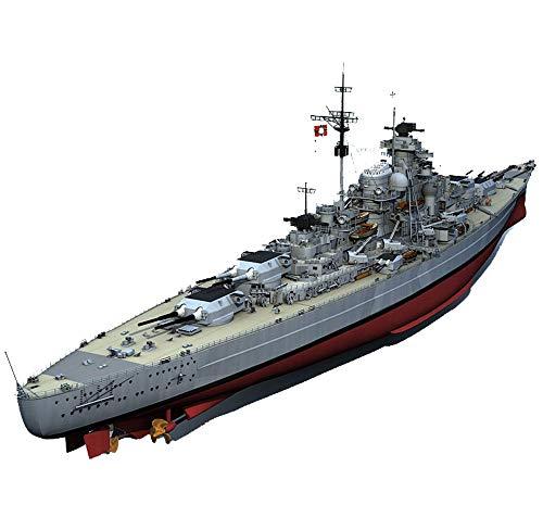 EP-Model 1: 200 Battleship Modell, WWII Deutsche Bismarck Battleship Modelle, 3D-Puzzle-Modell-Spielzeug-Kits (7.1Inch*7.1Inch*50Inch)