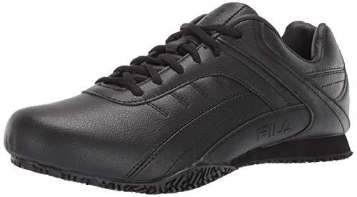 Fila Women's Elleray 5 Slip Resistant Shoe Hiking, Black, 6