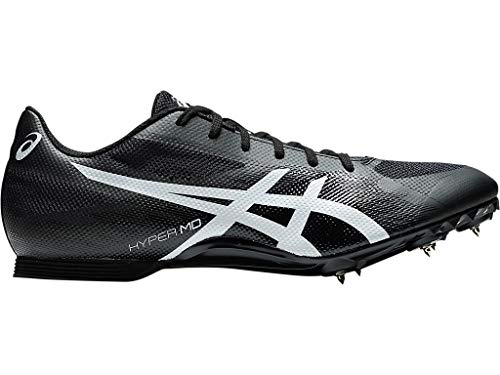 ASICS Unisex Hyper MD 7 Track & Field Shoes, 12W, Black/White
