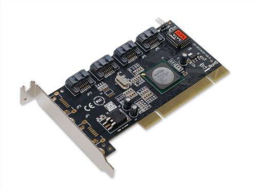 I/O Crest Low Profile 4 Channels PCI Serial ATA II RAID Host Controller Card SY-PCI40026