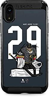 Skinit Cargo Phone Case for iPhone XR - Officially Licensed NHL Players Marc-Andre Fleury #29 Action Sketch Design