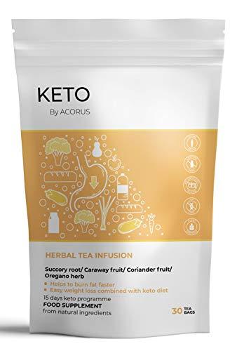 ACORUS KETO Tea Kräutertee ● 15 Tage Tee Programm ● Erster speziell gemischter Tee für KETO-Diäter (2g x 30)