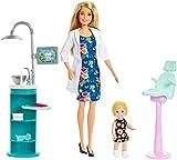 Barbie Quiero Ser Dentista muñeca con muñeca bebé y accesorios, regalo para niñas y niños 3-9 años (Mattel FXP16) , color/modelo surtido